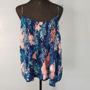 Floral old navy super cute tank XL